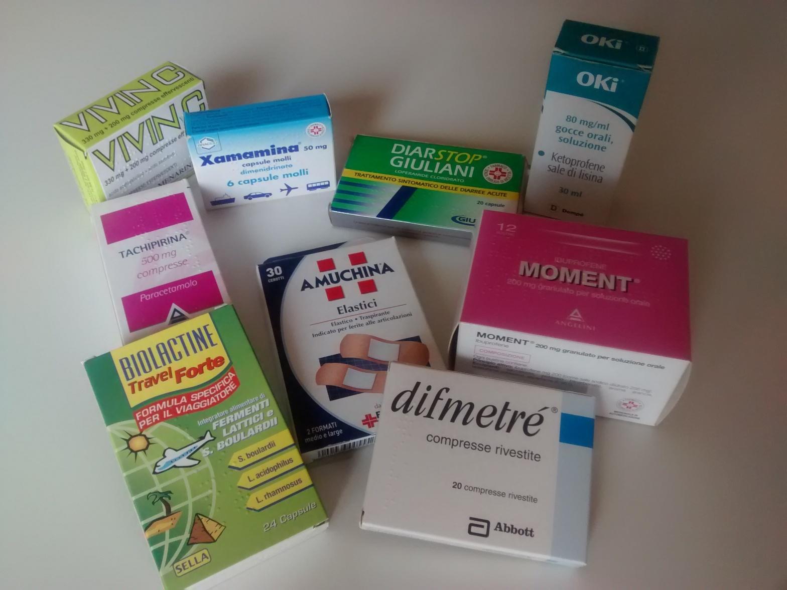 Alcuni medicinali in viaggio