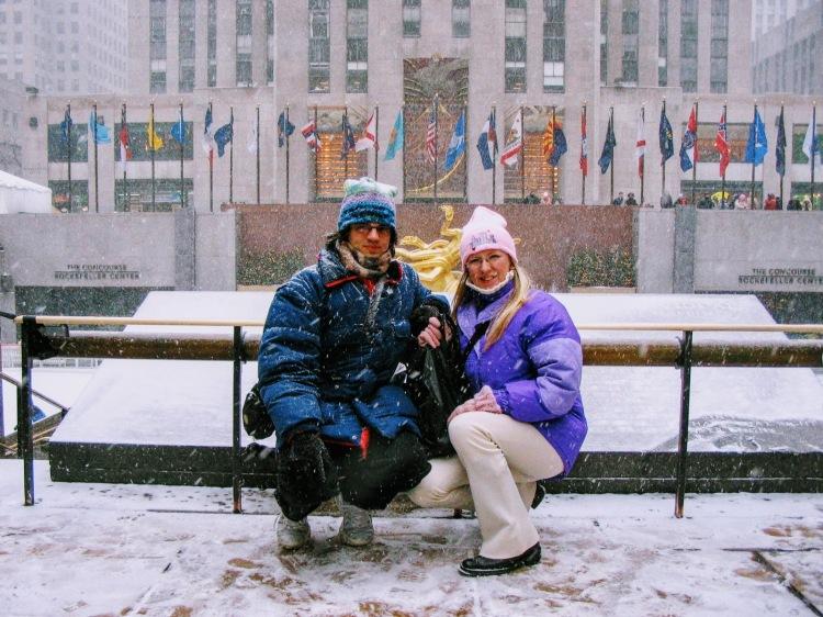 New York sotto la neve