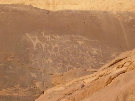 Incisioni rupestri nel Wadi Rum