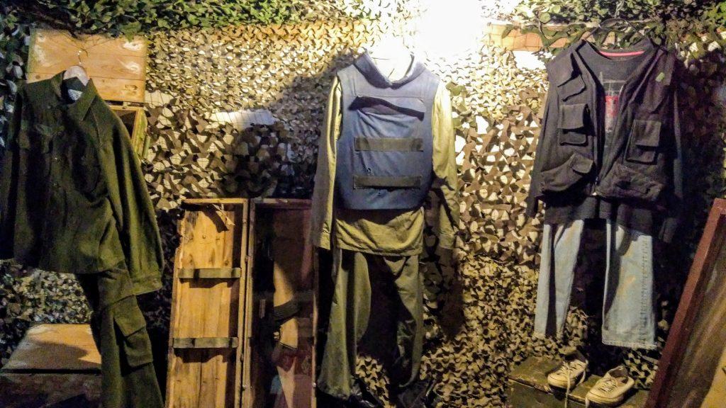 Abiti e suppellettili risalenti alla guerra in Bosnia ed Erzegovina