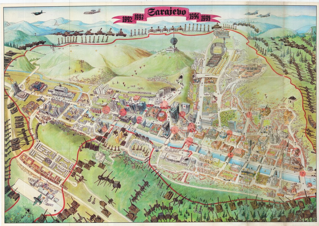 Mappa dell'assedio di Sarajevo